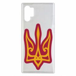 Чохол для Samsung Note 10 Plus Ukrainian trident with contour