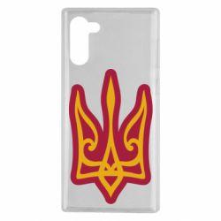 Чохол для Samsung Note 10 Ukrainian trident with contour