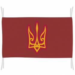 Прапор Ukrainian trident with contour