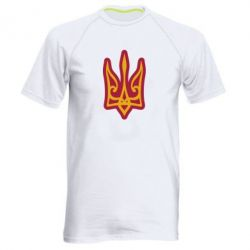 Чоловіча спортивна футболка Ukrainian trident with contour