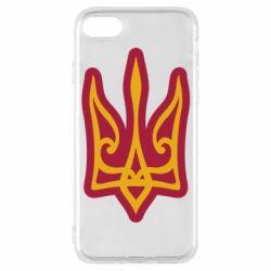 Чохол для iPhone 7 Ukrainian trident with contour