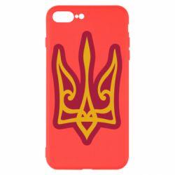 Чохол для iPhone 8 Plus Ukrainian trident with contour