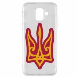Чохол для Samsung A6 2018 Ukrainian trident with contour
