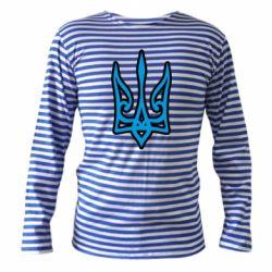 Тільник з довгим рукавом Ukrainian trident with contour