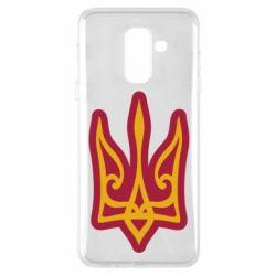 Чохол для Samsung A6+ 2018 Ukrainian trident with contour