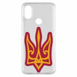 Чохол для Xiaomi Mi A2 Ukrainian trident with contour