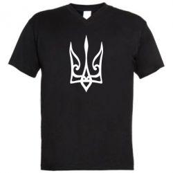 Чоловіча футболка з V-подібним вирізом Ukrainian trident