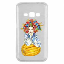 Чохол для Samsung J1 2016 Українка в вінку і вишиванці