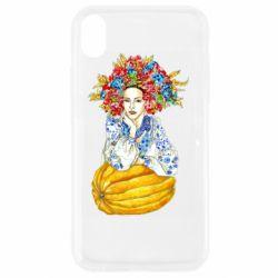 Чохол для iPhone XR Українка в вінку і вишиванці