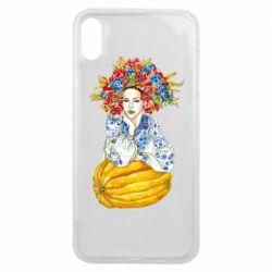 Чохол для iPhone Xs Max Українка в вінку і вишиванці