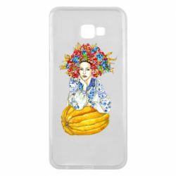 Чохол для Samsung J4 Plus 2018 Українка в вінку і вишиванці