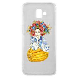 Чохол для Samsung J6 Plus 2018 Українка в вінку і вишиванці