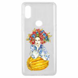 Чохол для Xiaomi Mi Mix 3 Українка в вінку і вишиванці