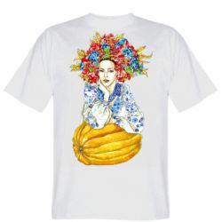 Чоловіча футболка Українка в вінку і вишиванці