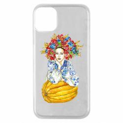 Чохол для iPhone 11 Pro Українка в вінку і вишиванці
