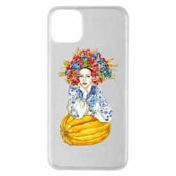 Чохол для iPhone 11 Pro Max Українка в вінку і вишиванці