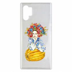 Чохол для Samsung Note 10 Plus Українка в вінку і вишиванці