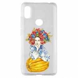 Чохол для Xiaomi Redmi S2 Українка в вінку і вишиванці
