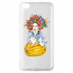 Чохол для Xiaomi Redmi Go Українка в вінку і вишиванці