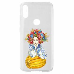 Чохол для Xiaomi Mi Play Українка в вінку і вишиванці