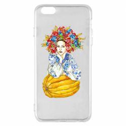 Чохол для iPhone 6 Plus/6S Plus Українка в вінку і вишиванці