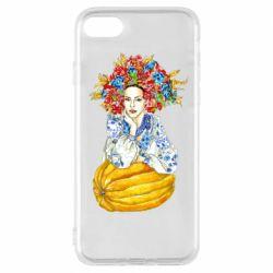 Чохол для iPhone 7 Українка в вінку і вишиванці