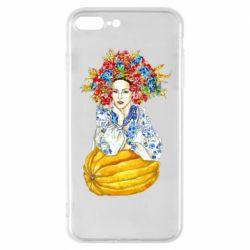 Чохол для iPhone 7 Plus Українка в вінку і вишиванці