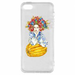 Чохол для iphone 5/5S/SE Українка в вінку і вишиванці