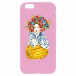 Чохол для iPhone 6/6S Українка в вінку і вишиванці