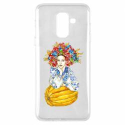 Купить OriAkuma, Чехол для Samsung A6+ 2018 Украинка в венке и вышиванке, FatLine