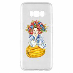 Чохол для Samsung S8 Українка в вінку і вишиванці
