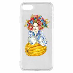 Чохол для iPhone 8 Українка в вінку і вишиванці