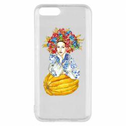 Чохол для Xiaomi Mi6 Українка в вінку і вишиванці