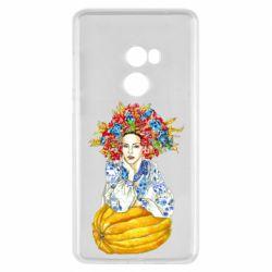 Чохол для Xiaomi Mi Mix 2 Українка в вінку і вишиванці