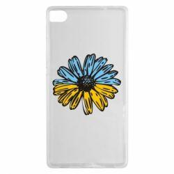 Чехол для Huawei P8 Українська квітка - FatLine