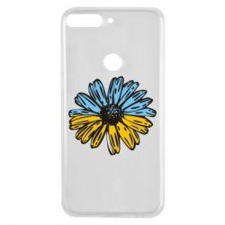 Чехол для Huawei Y7 Prime 2018 Українська квітка - FatLine
