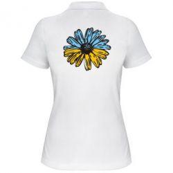 Женская футболка поло Українська квітка - FatLine