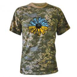 Камуфляжна футболка Українська квітка
