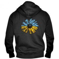 Мужская толстовка на молнии Українська квітка - FatLine