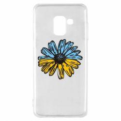 Чехол для Samsung A8 2018 Українська квітка