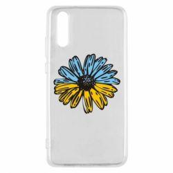 Чехол для Huawei P20 Українська квітка - FatLine
