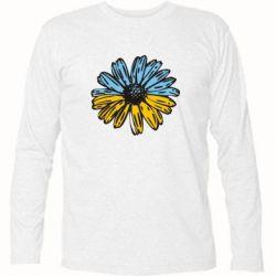 Футболка с длинным рукавом Українська квітка - FatLine