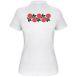 Женская футболка поло Українська вишивка - FatLine
