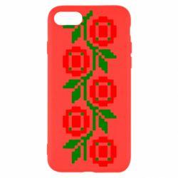 Чехол для iPhone 8 Українська вишивка - FatLine