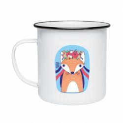 Кружка емальована Українська лисиця