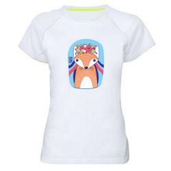 Жіноча спортивна футболка Українська лисиця