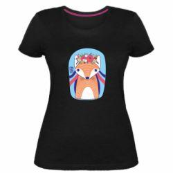 Жіноча стрейчева футболка Українська лисиця