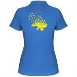 Женская футболка поло Українські птахи - FatLine