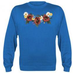Реглан (свитшот) Украинские цветы - FatLine