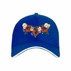 Кепка Украинские цветы - FatLine